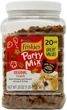Friskies Party Mix Adult Cat Food Treats Canisters – Real Chicken 20 oz