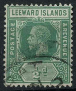 Leeward Islands 1912-22 KGV SG#47a, 1/2d Deep Green Used #A95095