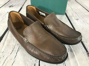 CLARKS Collection Soft Cushion Brown Leather Loafers Shoes Size Men's 10 M