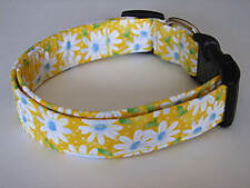 Charming Yellow with White Daisies Daisy & Dots Dog Collar