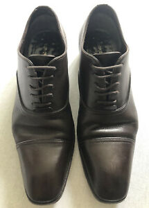 """Tom Ford """"J0104"""" Oxford Brown Leather Shoes, Size 9 UK RRP £1300"""