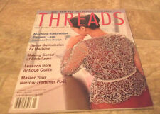 THREADS MAGAZINE FOR PEOPLE WHO LOVE TO SEW JAN 2002 #98