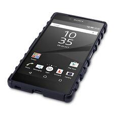 Xperia Z5 Premium Rugged Case Shock Displacement High Density Rigid Cover Black