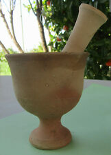 Handmade Pestle Made from Clay - Bowl Pottery, Made in Cyprus