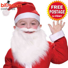 AC28 Child Santa Beard Moustache Christmas Fancy Dress Up Costume Party Xmas