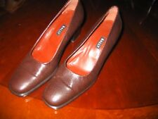 ladies bally skin effect shoes, dark brown, size 6, excellent condition