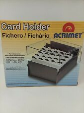 Acrimet Card Holder For Index Cards 5 X 8 Heavy Duty Metal Teal Color