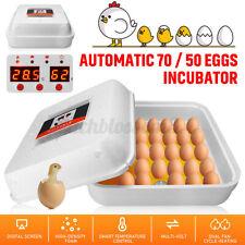 70/55 Egg Incubator Digital Automatic Hatcher Temperature Control Birds
