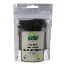 Organic Sun Dried Black Mulberries 75g Certified Organic