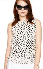 $228 NWT Kate Spade Silk Leopard Dot Sleeveless Layer Tank Top Size Large
