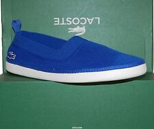 Lacoste Authantic Blue Logo Casual Athletic Shoes Italy Size US 12 New