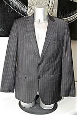 HUGO BOSS jam 1/ sharp 1 veste de costume slim fit laine gris rayé TAILLE 52