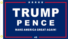 TRUMP PENCE MAGA OFFICIAL USA SUPPORTER FLAG ROUGH TEX 100D UV PROTECTED BANNER