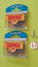 2 boxes of Rapala/VMC 4X Strong O'Shaughnessy Treble Hooks  Size 4,  25 ct.