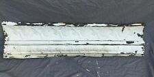 4 Feet Antique Tin Ceiling Boarder Cove Trim Old White Architectural 1197-20B