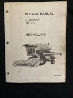 New Holland Service Manual Combine TR70 1979 *1040