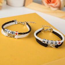 Heart Couples Bracelet His and Hers Lovers Love Braclet Anniversary Jewelry Set