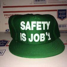SAFETY is My JOB vtg Slogan hat WORK Saying Responsibility training Construction
