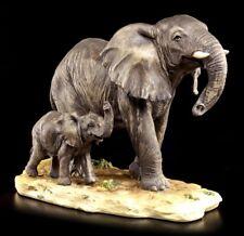 Elefanten Figur - Kind mit Mutter - Deko Afrika Tierfigur