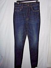 New Express $80 Super High Rise Denim Legging Dark Creased Wash Jeans Size 4