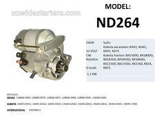 New starter motor suits Kubota excavators KH41, KH61, KX41, KX71
