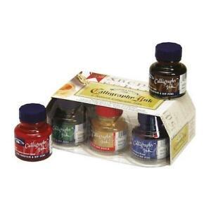 WINSOR & NEWTON Acrylic Calligraphy Ink Set - Lightfast - 6 x 30ml Bottles