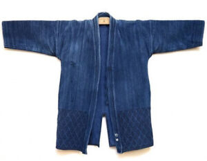 Vintage Indigo Kendo Jyudo gi Jacket uniform L Japanese Martial Arts Aizome F/S