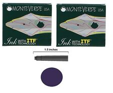 12 Monteverde International Standard Fountain Pen Ink Cartridges - Blue-Black