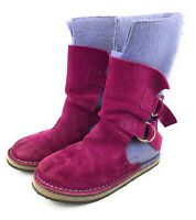 Sorel Chipahko Felt Pink Suede Ankle Calf Boots Girls Youth Size 3 Winter Boot
