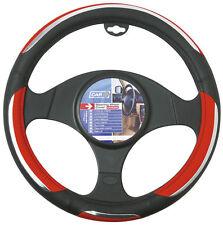 Sumex Branded 'Snake' Soft PVC Car Steering Wheel Sleeve Cover - Red & Black #71