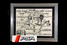 PSA Original ART Framed Vintage Pacific Southwest Airlines Marble Memories RARE