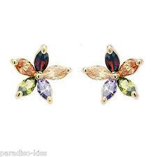 Orecchini Donna Cristallo SWAROVSKI Elements Fiore Multicolore OR194