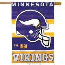 """Minnesota Vikings Vertical Flag Throwback Nfl Licensed Football Banner 28"""" x 40"""""""