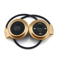 Sport Wireless Bluetooth 3.0 Headset Headphone Earphone Stereo Mini 503 Gold MTC
