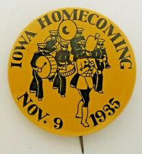 "scare 1935 UNIVERSITY OF IOWA HOMECOMING football 1.75"" pinback button"