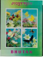 Bhutan Scott #95H, Souvenir Sheet 1968 Complete Set FVF MNH