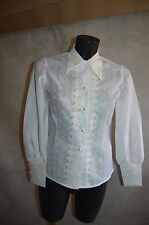 CHEMISE chemisier BRODE  TAILLE S/36 CEREMONIE DRESS SHIRT/CAMICIA/CAMISA TBE