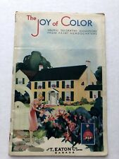 1932 Sherwin-Williams Paint Catalog The Joy Of Color w/ Paint Samples