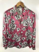 GERRY WEBER Damen Bluse, Größe 42, mehrfarbig, Blumen, sehr schick, locker