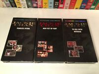 # Jackie Chan Martial Arts Action VHS Lot of 3 Fearless Hyena New Fist Of Fury +