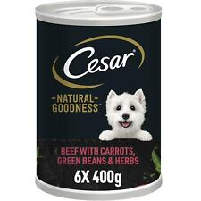 More details for 6 x cesar natural goodness tin beef with carrots green beans & herbs loaf 400g