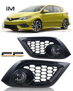 2016 2017 Scion Toyota Corolla IM Fog Lights Clear Lens Complete Kit