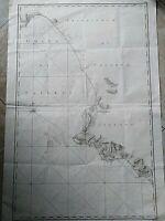 1792 RIZZI ZANNONI CARTA NAUTICA PRINCIPATO DI SALERNO ATLANTE REGNO DUE SICILIE