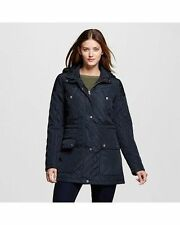 Merona Women's Quilted Anorak Jacket - Black - Size: Small