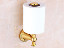Luxury Gold Polished Brass Bathroom Toilet Paper Tissue Holder Wall Mount