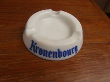 CENDRIER VINTAGE ASHTRAY 50-60's BIERE KRONENBOURG opaline
