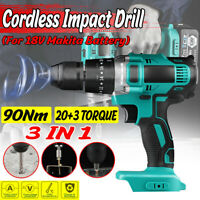 3 in 1 90Nm 18V Makita Battery Cordless Impact Wrench Drill Driver Screwdriver