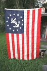 Antique 13 Star Anchor ANNIN of New York 4' x 6' American Private Yacht Flag