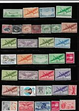 UNUSED HINGED-USED AIRMAIL SINGLES C-18 PINHOLE FAULTS ON A FEW FRNT-BACK SCAN