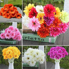 Artificial Gerbera Daisy Silk Flower Heads Wedding Party DIY Decor Crafts
